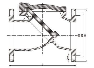H44H-150LB美标铸钢止回阀结构图