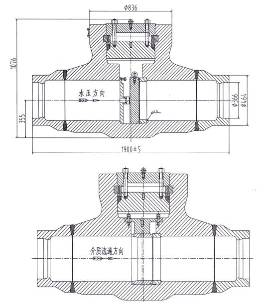 水压试验堵阀结构图