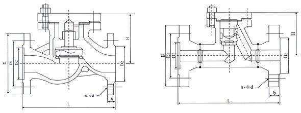 H41H型升降止回阀结构图