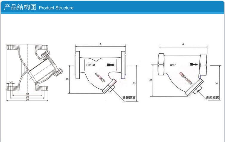 y型过滤器结构图及设计图纸