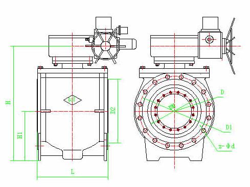 液控偏心半球阀特点结构设计图