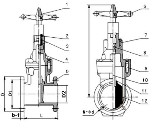 软密封闸阀工作原理结构图