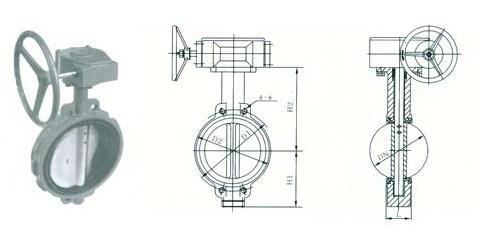 对夹式蝶阀外形尺寸结构图图片