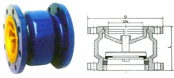 消声止回阀结构图(h41x)