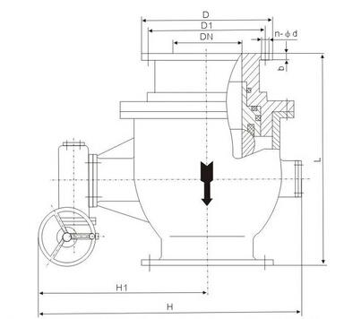 q347y卸灰固定球阀结构图