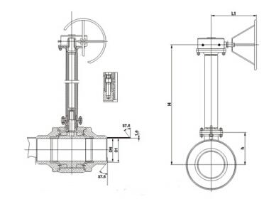 气动,电动,手动,蜗轮驱动等   【 q61f/h/y 加长杆埋地式全焊接球阀图片