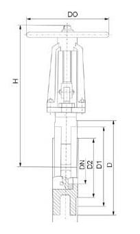 SCZ系列插板阀SCZ973H-6结构图