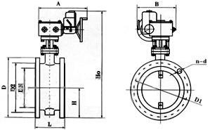 D941H-6C法兰式通风型蝶阀结构图