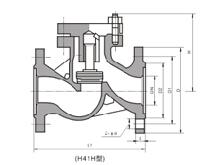 H41H升降式锻钢止回阀结构图