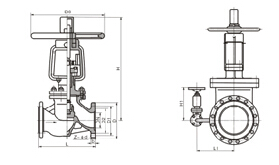 YJ41H氧气截止阀结构图片