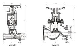 JB41H德标波纹管截止阀结构图片