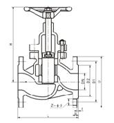 JU40HX-16G 型柱塞截止阀结构图片