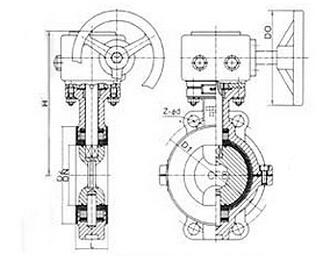 DA371F3/DA971F3衬氟塑料里蝶阀结构图