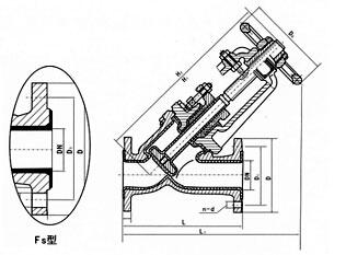 J41F3/J45F3-J44F3衬氟塑料里截止阀结构图
