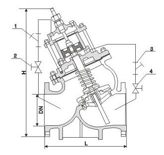活塞式水泵控制阀(浊水型)结构图