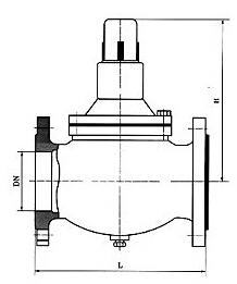 YB416X第二代减压稳压阀结构图