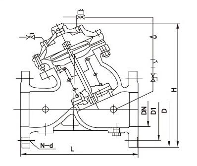 J145X电动遥控阀结构图片