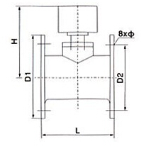 ZSJZ沟槽水流指示器结构图