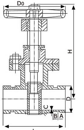 Z81X沟槽式弹性座封闸阀结构图片