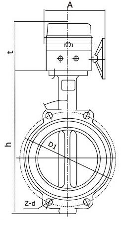 xd371x-16信号蝶阀结构图