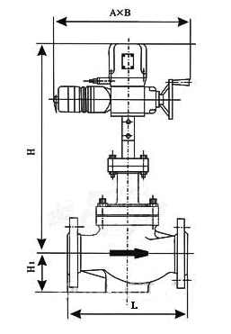 ZRQM智能电动调节阀结构图