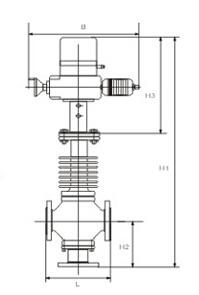 轻小型三通调节阀结构图