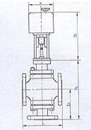 ZAZQ ZAZX电动三通合流、分流调节阀结构图