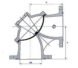 100S-10/16角式隔膜式排泥阀结构图