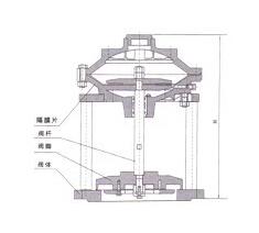 JM742X隔膜式池底排泥阀结构图