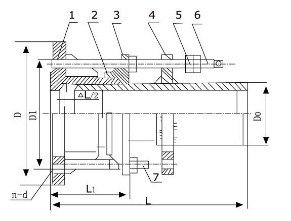 VSSJA型法兰式限位伸缩接头结构图片