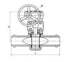 X43F德标卡套软密封旋塞阀结构图