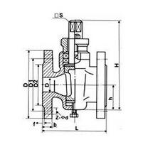 X43W国标旋塞阀产品外形及结构尺寸示意图