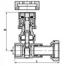 磁性带锁表前闸阀结构图