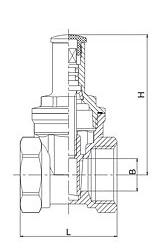 105带锁闸阀结构图