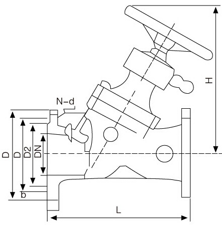 104静态平衡阀结构图