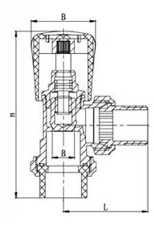 101角式温控阀结构图