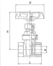 Z15W-16T铜闸阀结构图