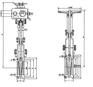 两相流排渣阀结构图