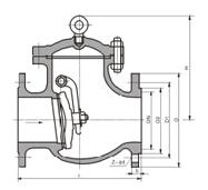 GB旋启式止回阀H44H结构图片