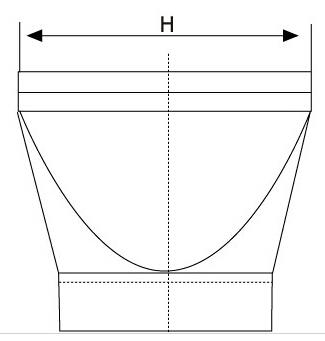 XL-T/XL-F鸭嘴式橡胶止回阀结构图
