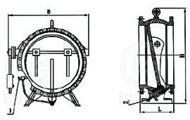 HH47/H47XF/HDH47X碟式缓冲止回阀结构图