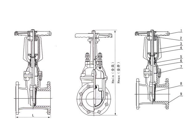 弹性座封闸阀结构图