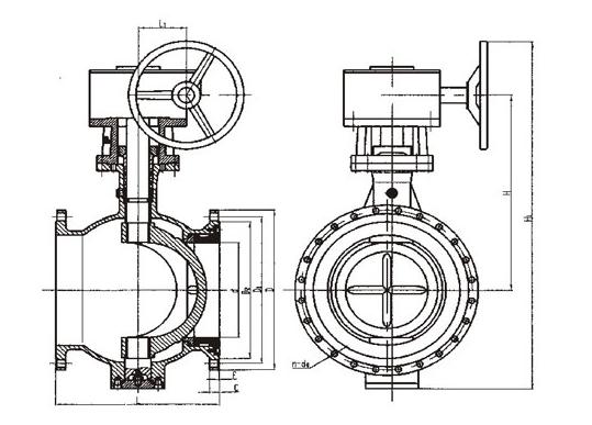 偏心半球阀结构图