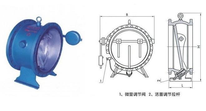 微阻缓闭式消声止回阀结构图