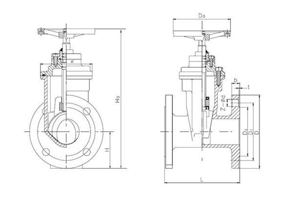 沟槽闸阀结构图