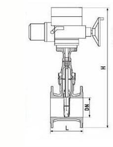 Z945X电动软密封闸阀结构图
