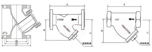 Y型过滤器结构示意图