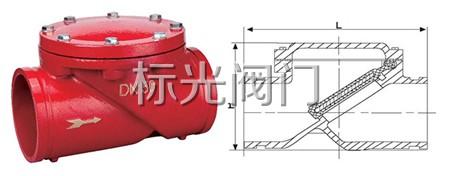 沟槽卧式止回阀结构特点和用途图片
