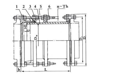 VSSJAFC型可拆式双法兰传力接头结构图