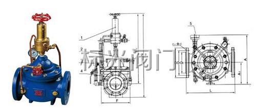 500x泄压阀结构图图片